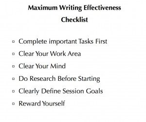 image of Maximum Writing Effectiveness Checklist