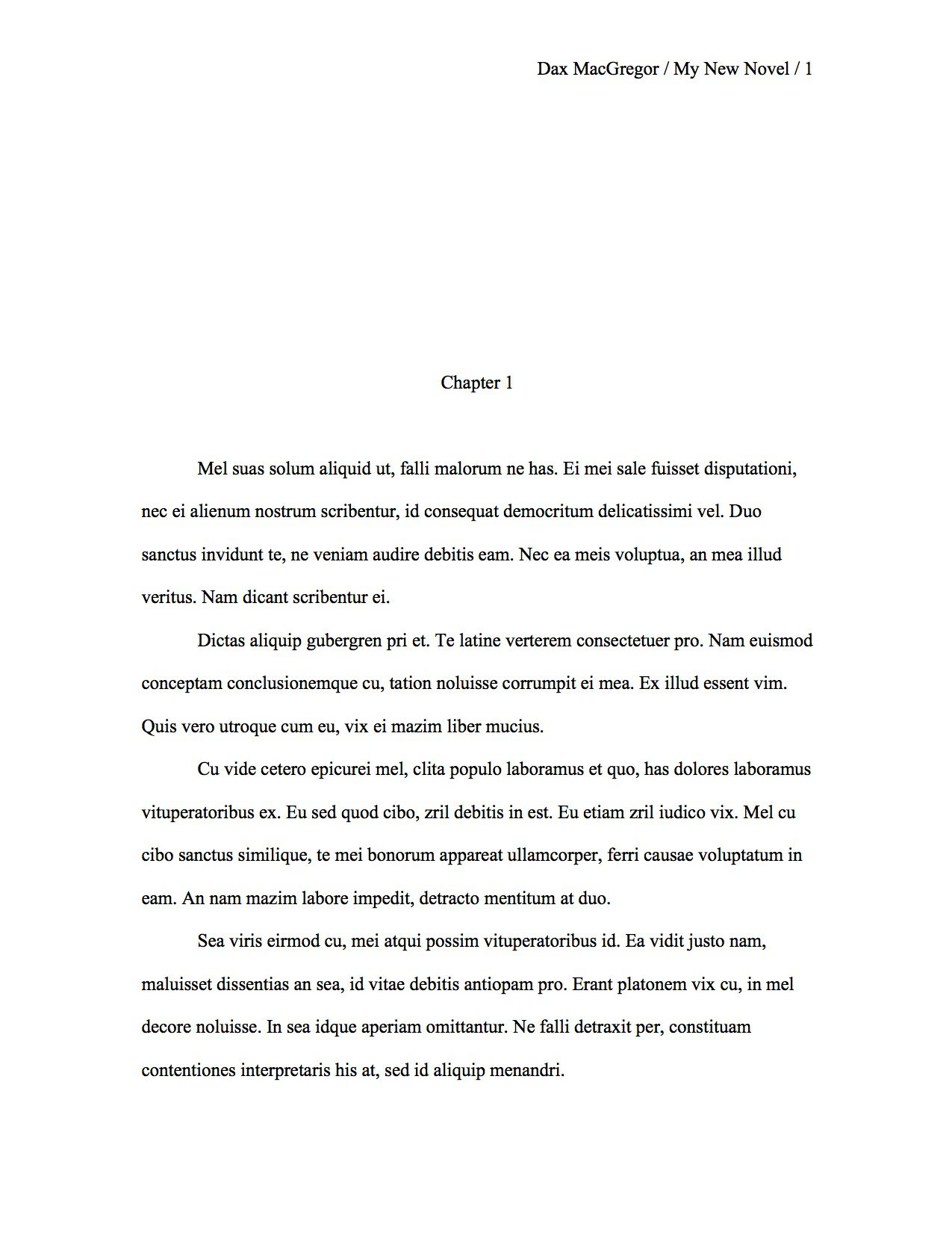 Proper manuscript format for a novel first manuscript for Cover letter for revised manuscript sample